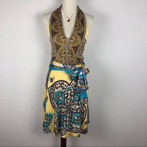 Mango Halter Top Paisley Dress